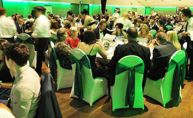 ACHIEVERS CELEBRATE: Award finalists and their guests enjoy the recent QT-City of Ipswich Sports Awards gala function at the Ipswich Civic Centre. The Ipswich Sports House team organised the night.