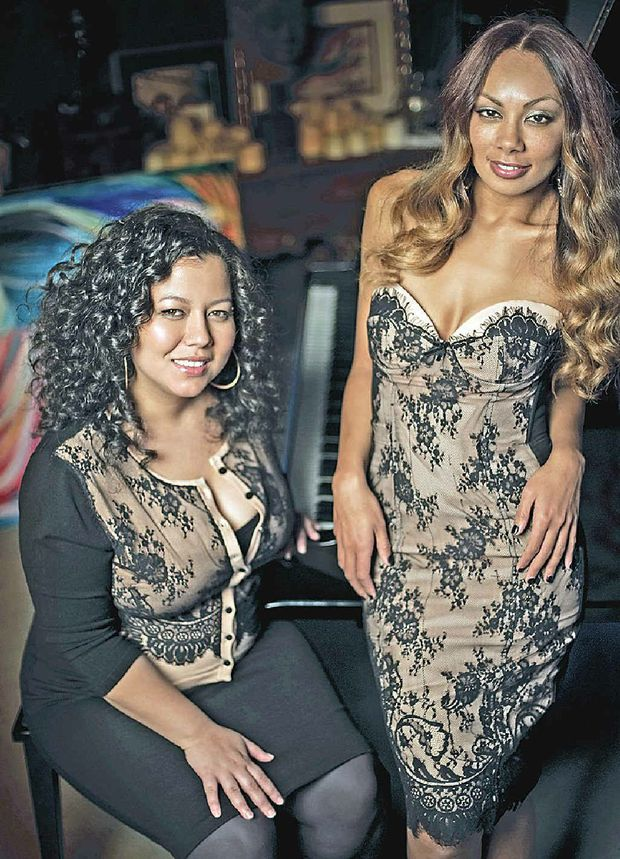 IN FINE VOICE: Prinnie and Mahalia bring their soulmates to Byron.