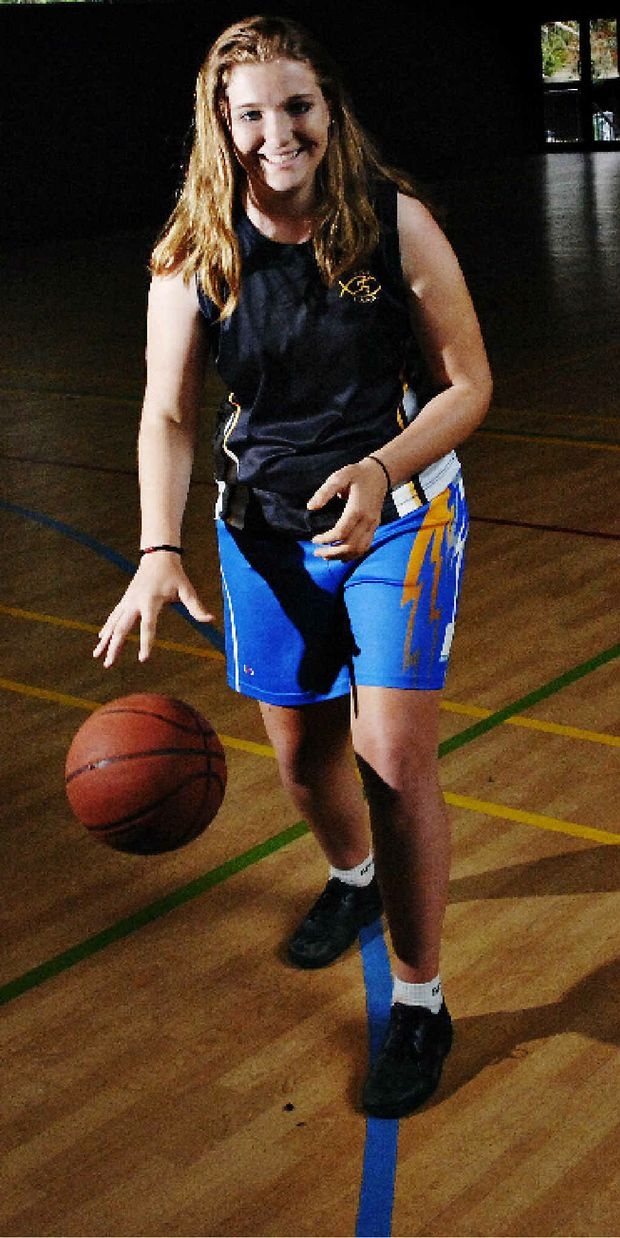 GETTING THE REWARDS: Summerland Christian College student Mikaela Pieniacki, who has been selected in the NSW CSSA basketball team.
