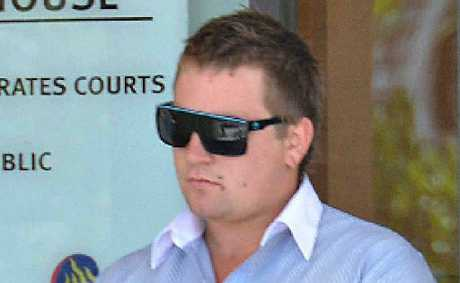 Blake Robert Day leaves Mackay courthouse yesterday.