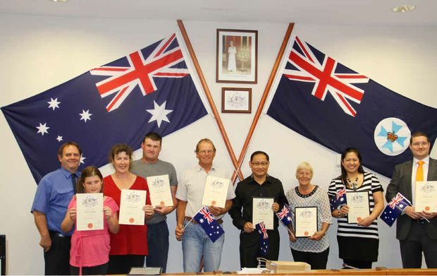 Eight people made the pledge to become Aussie citizens on October 2.