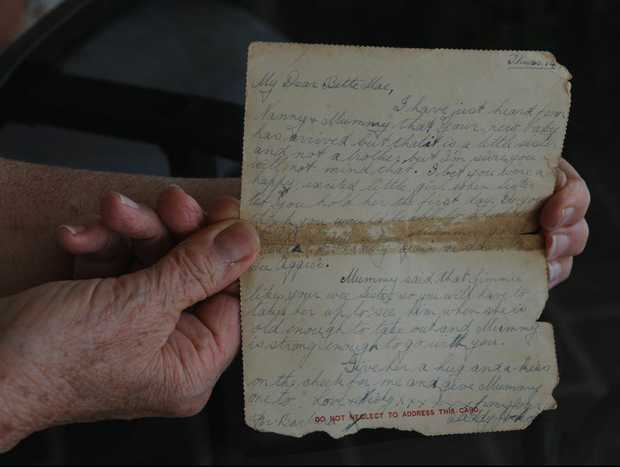 The last letter Betty Wicks received from her father before he went missing in action in the Second World War.
