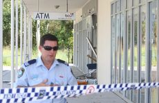 The ATM at Pottsville was pulled out by thieves overnight. Photo: Blainey Woodham / Daily News