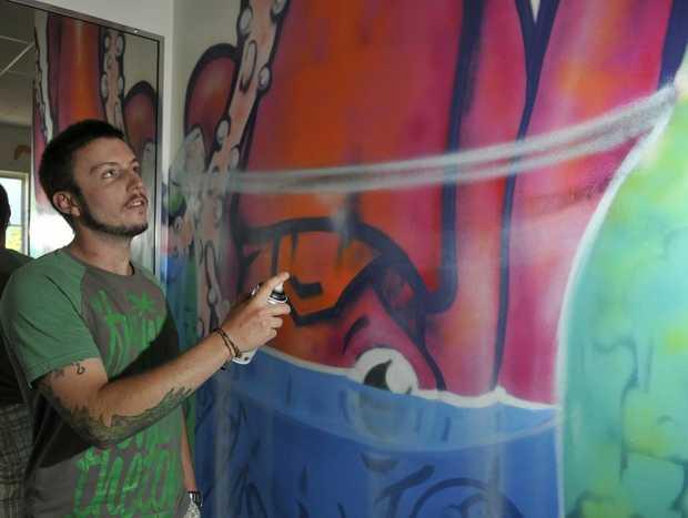Street artist Ian McCallum of Kontraband said illegal graffiti gives those who do it legally a bad name.