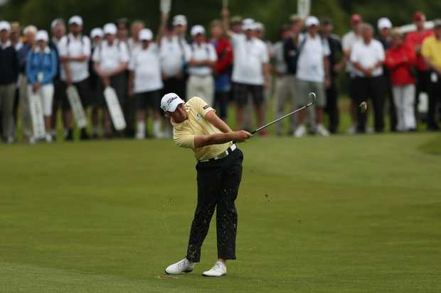 Jake Higginbottom of Australia plays a shot during day four of the New Zealand Open Championship at Clearwater Golf Course on November 25, 2012 in Christchurch, New Zealand.