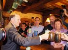 NEW Zealand's Prime Minister John Key officially opened The Green Dragon and poured the pub's first pint of beer.
