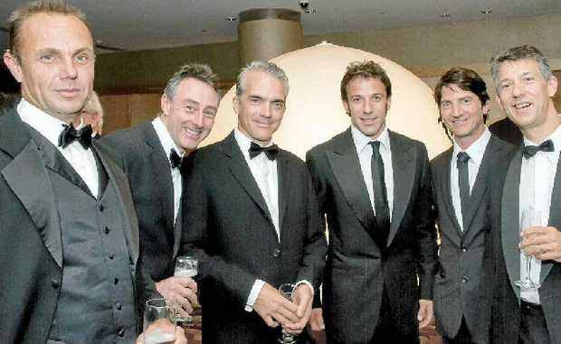 WINNERS: Members of Eureka FC with superstar, Alessandro Del Piero (third from right), at the awards night.