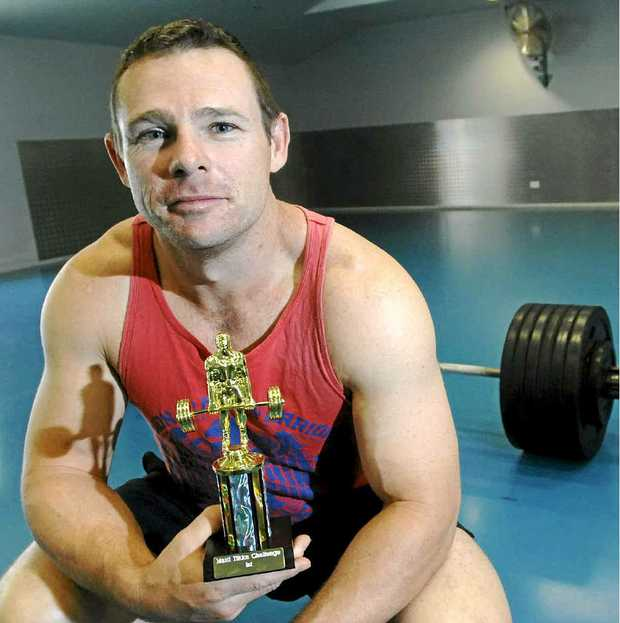 LIFT AND LEARN: Powerlifter Jason Clarke, who won the 93kg class at the Matti Tikka Challenge in Brisbane.