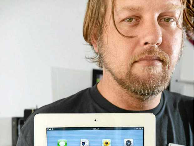 FRAUD WARNING: Alex Clarke from Power Max Computer, Lismore warns that a stolen credit card was used to purchase an iPad and Mac Book Pro.