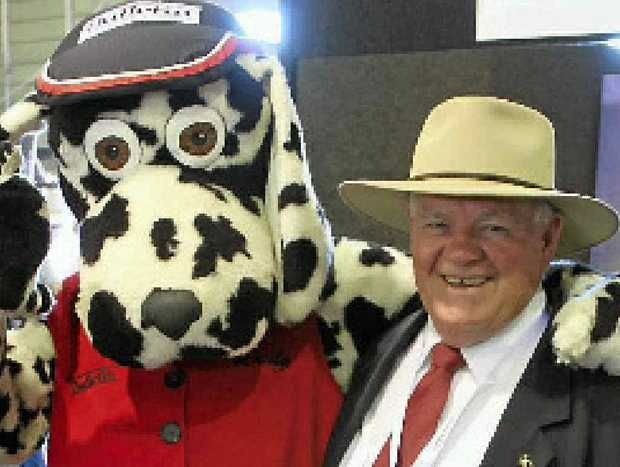 PALS: Daily Dalmatian with Geoff Murphy at this year's Beef Australia.
