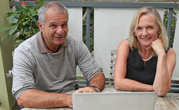 Julien Cahn and Anna Day of Noosa Chamber of Commerce's mentoring service.