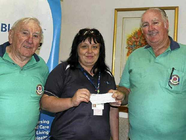 Warwick Lions Club members helped raised $5000 for Warwick Blue Care. (From left) Trevor Sheeran, Angela Davies and John Griffith.