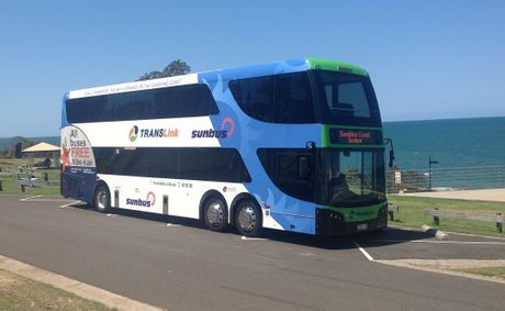The Sunshine Coast's first double-decker bus.
