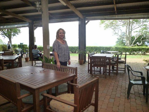Sarah Castaldi loves the rustic feel of the Mary Cairncross Kiosk.