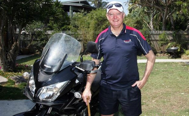 ON THE ROAD: Wayne Porter during The Great Australian Ride. contributed