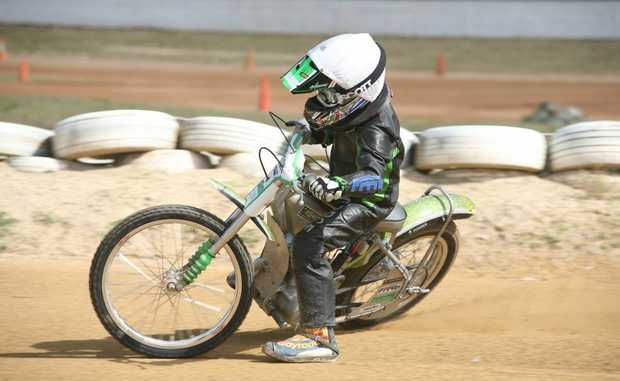SPEEDWAY STAR: Kingaroy's Cordell Rogerson will head to Victoria next month to compete for the under-16 125cc Australian title.