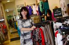 Tracey Locke models fashion from Noni-B at Stockland, Gladstone.