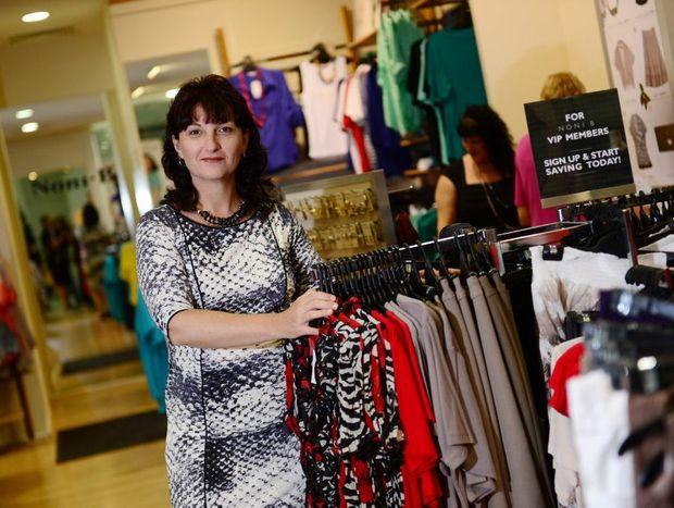 Tracey Locke models fashion from Noni-B at Stockland, Gladstone.