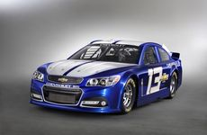Holden's new VF Commodore has broken cover in the form of a Chevrolet-branded Nascar.