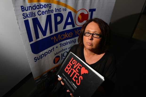 IMPORTANT LESSON: Impact youth worker Amanda Scarborough says the domestic violence program; Love Bites has been popular with schools. Photo: Scottie Simmonds / NewsMail