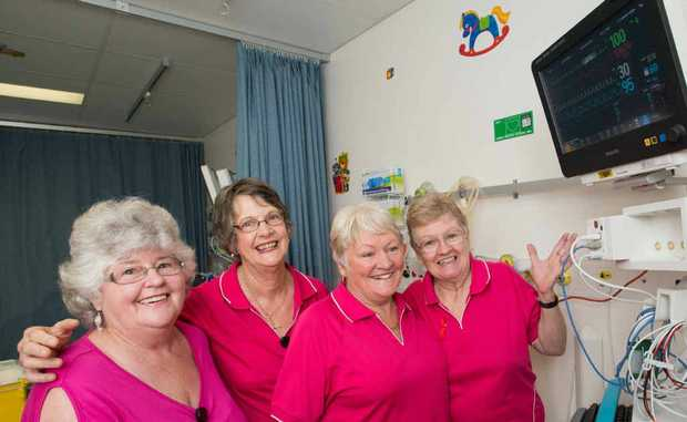 Pink Ladies Maureen Donnella, Judy Bebe, Cheryl Purves and Helen Mears.