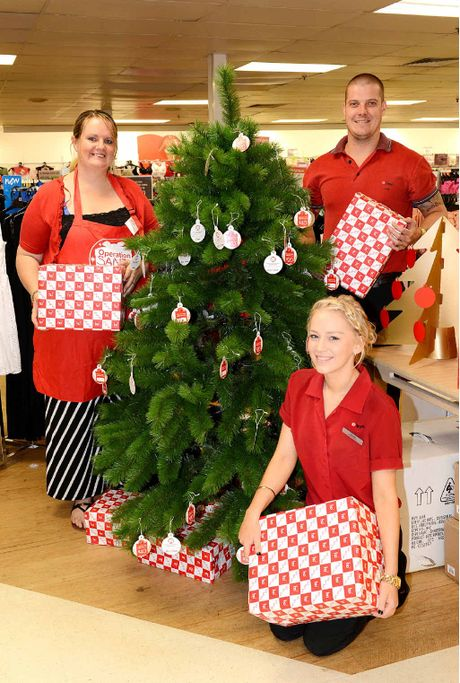 Paula Nethercoat From UnitingCare Community and Jade Anderson and John McEwan from Target Country are urging residents to support their Christmas appeal.