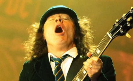 NUMBER ONE: AC/DC's Angus Young performs during the band's last Australian concert.