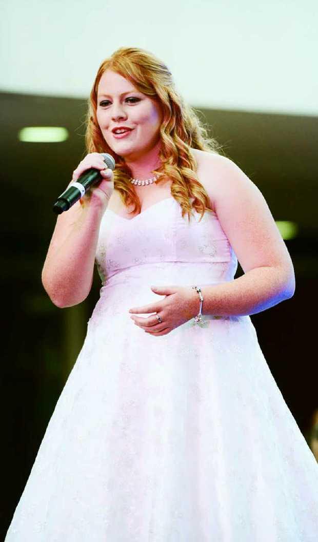 HOLY NIGHT: Tammy Mathieson, 19, of Springfield.