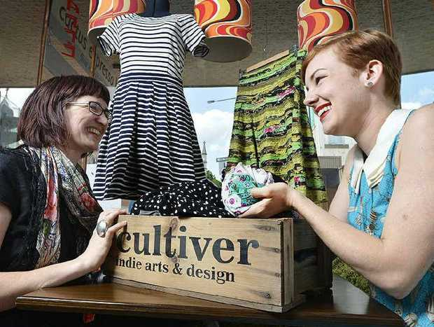 NEW LOOK: Rebecca Lewis from Cultiver and Aeron Parker from Cactus Espresso Bar will host a frock swap today.