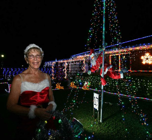 ALL LIT UP: Dawn Mansfield's Bernborough Ave display won the Efficient Lighting section in last year's competition.