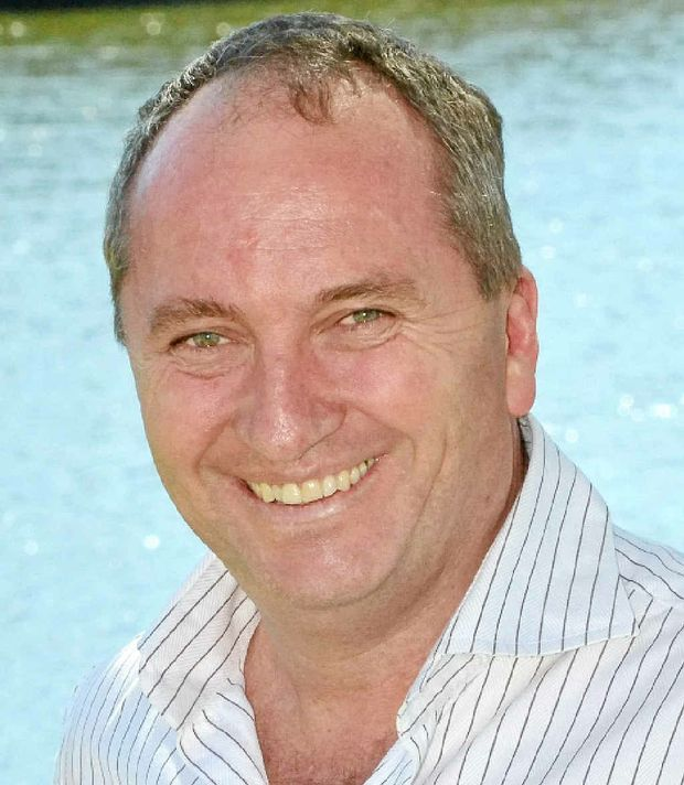 "DROPPING IN: Queensland Senator Barnaby Joyce is on the Coast for a few days to attend a friend's wedding and ""to say g'day to the people""."