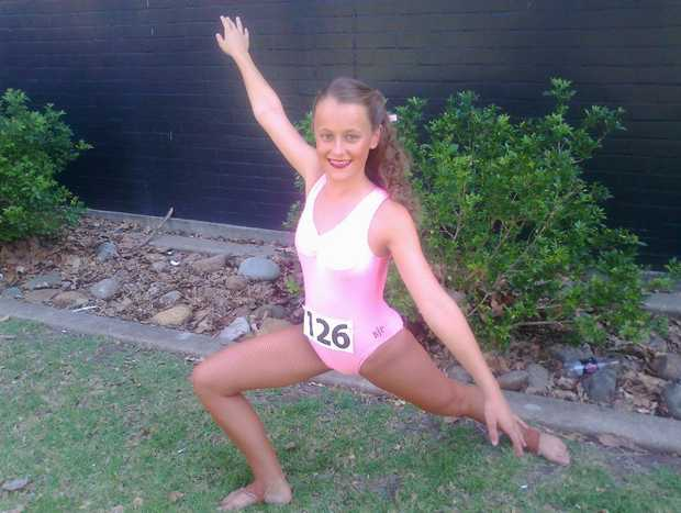 Mikayla O'Mahony, 12, poses after performing at the 2012 Physical Culture National Championships.