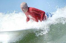 AMAZING COMEBACK: Matt Golinski having a surf at Alex Headland.