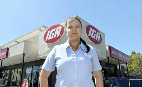 FIGHTING ON: Kim Schmith is defiant after being robbed at the IGA at Mt Coolum.