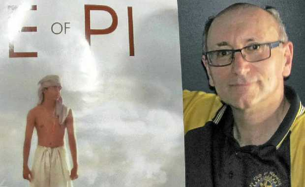 Peter Rodeck with a poster for the premiere of Life of Pi on Thursday.