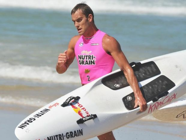 Kellogg's Nutri-Grain Ironman Series at Coolum Beach. Matt Poole cools down