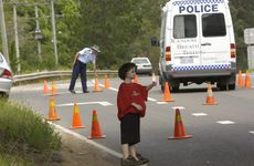 Police at the scene of where Daniel disappeared back in 2003.