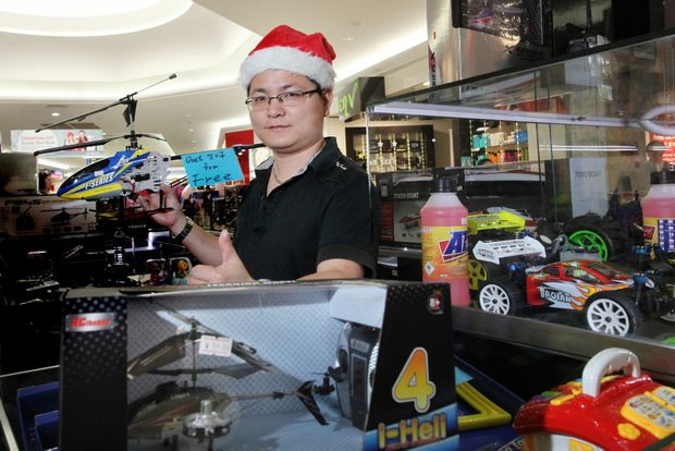 Mr Toys and Hobbies manager Jim Zhang is gearing up for Christmas sales. Photo: Inga Williams / The Reporter