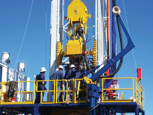 Coal seam gas drilling rig on the Western Downs.
