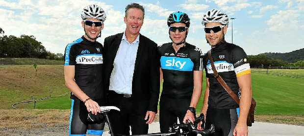RIDE ON: Russell Green (2nd from left) with (from left) Ben Johnston, Jeremy Hunt and Ben Kersten.