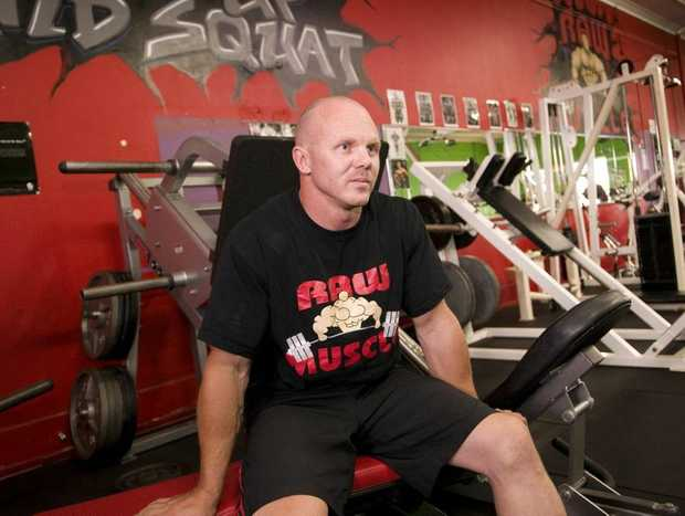 Toowoomba's Nathan Allen preparing to defend his national deadlift title this weekend.