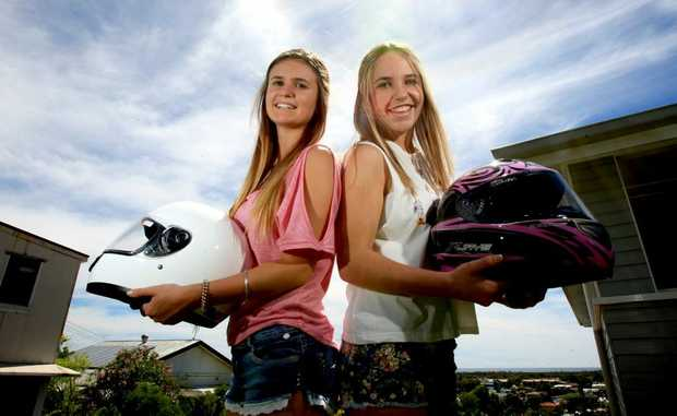 Kaih and Zoe Curling are drag racing champions Photo Blainey Woodham / Daily News