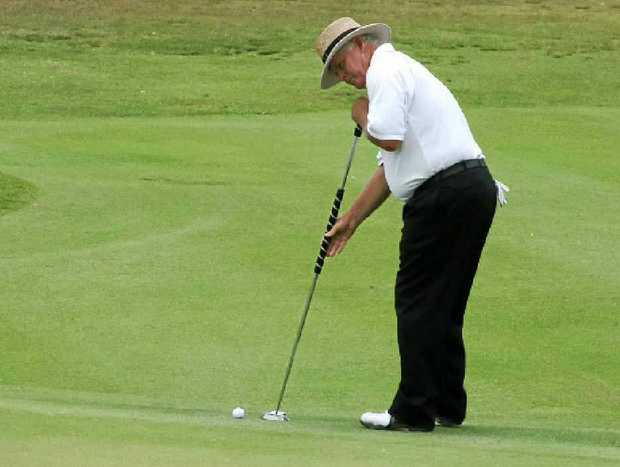 CHAMPION IN ACTION: Peter Senior on his way to winning the Byron Bay tournament in 2009.