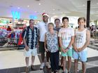 NRL star Petero Civoniceva gives out random acts of kindness to Gympie shoppers.