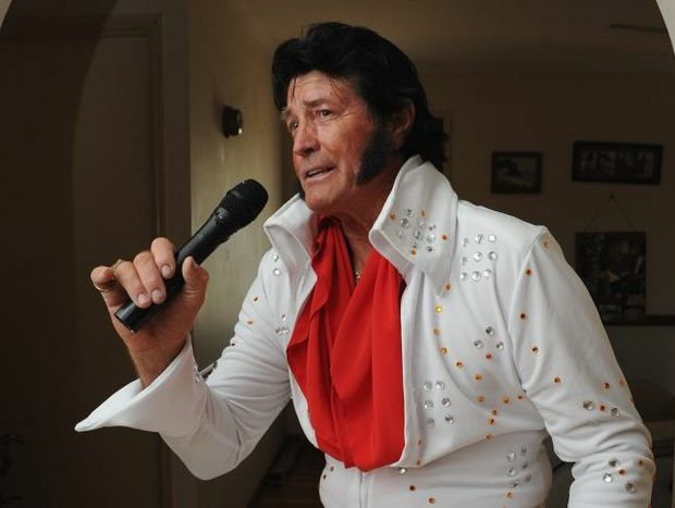Elvis impersonator Trevor Turner.