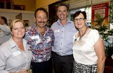 Spotted at the end of year function are ( from left ) Julie Lancaster-Smith, Peter Marks, Julian Lancaster-Smith and Cheryl Abberton.