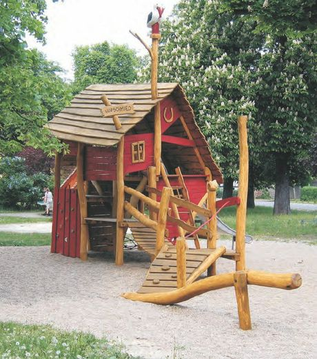 "The new ""Old Smithy"" playground is on its way to Picnic Point from the factory of German manufacturers Spielart and will be ready in January."
