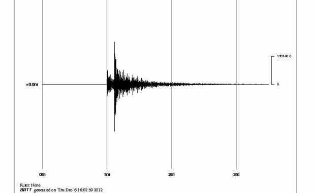 SHAKEN UP: The seismograph of yesterday's earthquake in the North Burnett.
