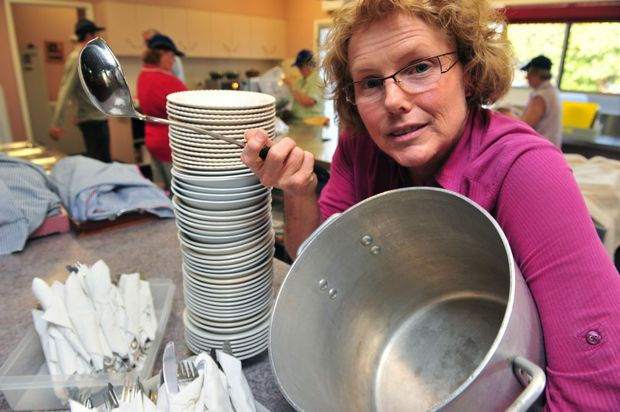 MORE HELP: Volunteers are phoning to help out after Andy's Place secretary Delma Lovell feared that the vital service they provide will collapse. Photo: Max Fleet / NewsMail