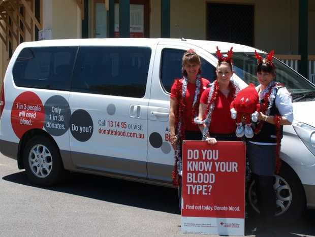 Maryborough donor centre staff are encouraging people to give blood over the Christmas period.
